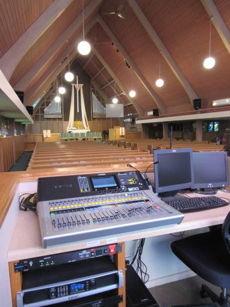 house of worship audio video
